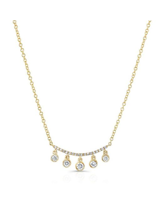 Anne Sisteron - Metallic 14kt Yellow Gold Diamond Spring Necklace - Lyst