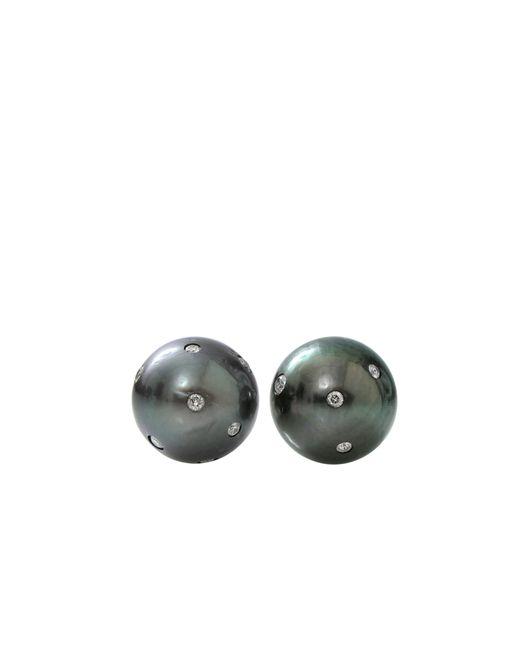Jordan Alexander | Metallic Round Tahitian Pearl Stud Earrings | Lyst