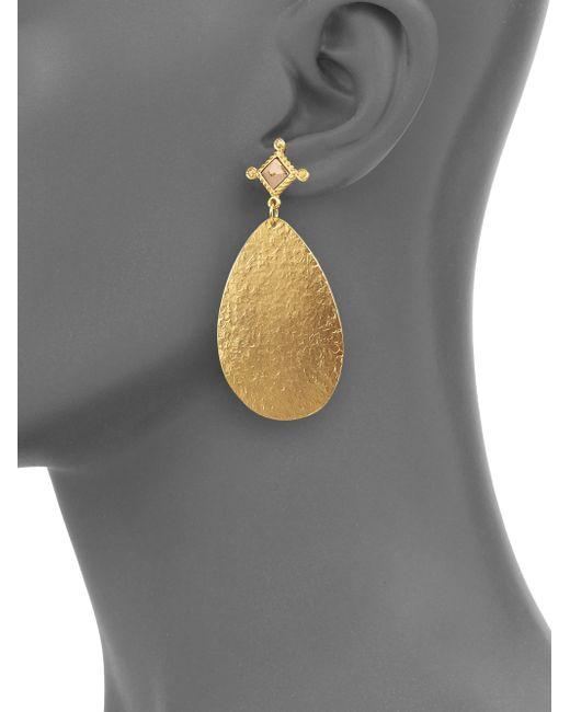 Stephanie Kantis   Metallic Dove Picture Jasper Teardrop Earrings   Lyst