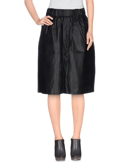 cheap monday knee length skirt in black save 34 lyst