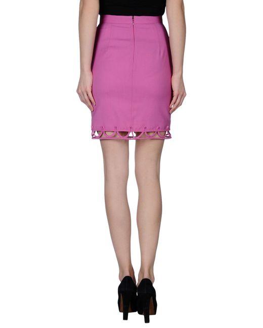 dsquared 178 knee length skirt in purple lyst