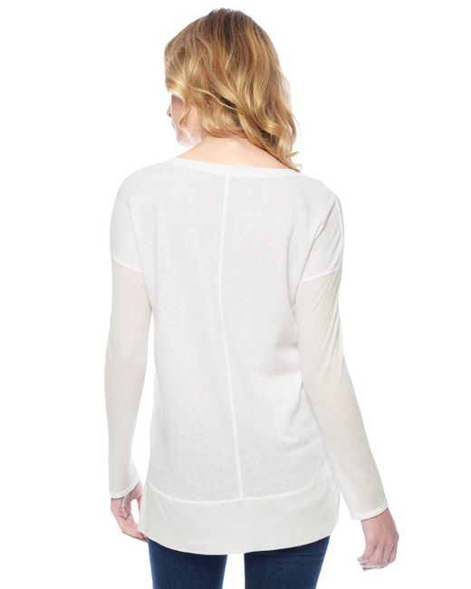 Splendid | White Heathered Thermal Tunic | Lyst