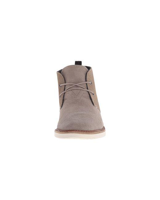 TOMS | Gray Mateo Chukka Boot for Men | Lyst