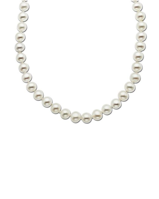 Lord & Taylor | White 14 Kt. Yellow Gold Freshwater Pearl Strand Necklace | Lyst