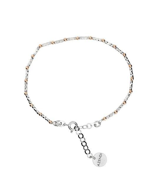 Azendi | Metallic Sterling Silver/diamond Cut Silver Bead Bracelet | Lyst