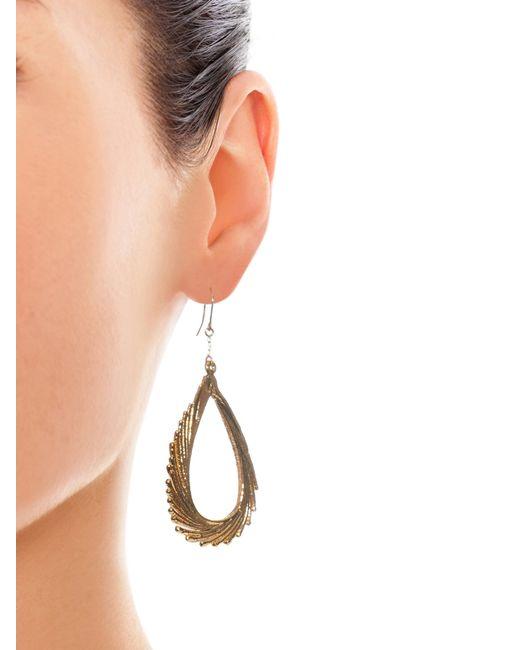 Aurelie Bidermann   Swan Feather Yellow-gold Earrings   Lyst