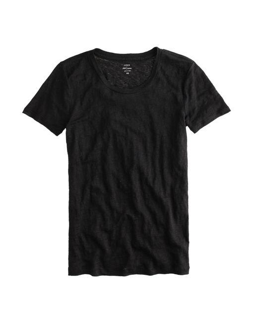 J.Crew | Black Linen T-shirt | Lyst