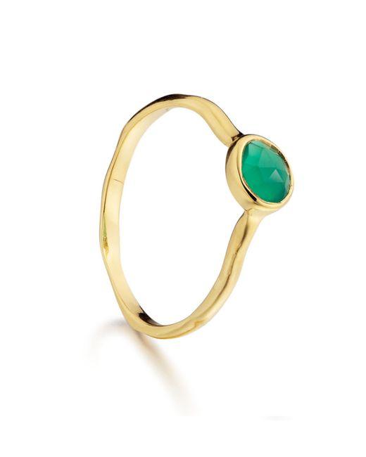 Monica Vinader | Green Siren Small Stacking Ring | Lyst