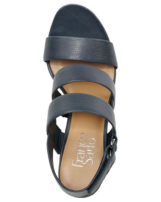 Franco Sarto Jena Sandals In Black Navy Lyst