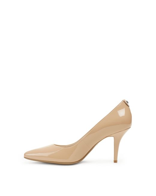 Michael Kors Flex Patent Leather Mid-Heel Pump In Beige Nude  Lyst-1027