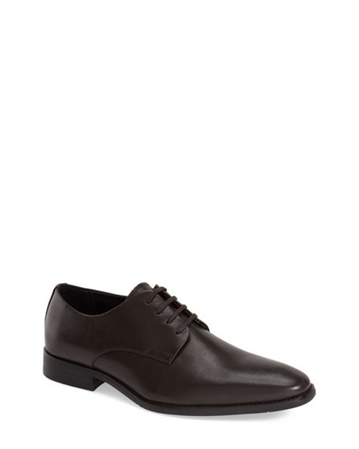 Calvin Klein | Brown 'ramses' Plain Toe Derby for Men | Lyst