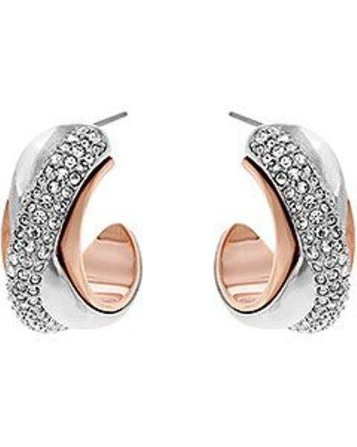 Swarovski | Pink Wave Pierced Earrings | Lyst