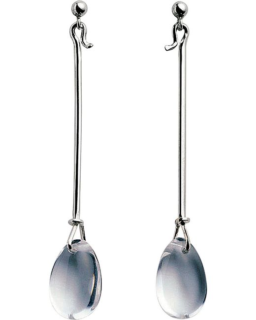 Georg Jensen | Metallic Dew Drop Sterling Silver Earrings | Lyst
