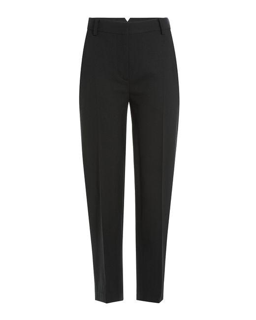 Donna Karan | Black Envelope Pleated Crepe Tapered Pants | Lyst