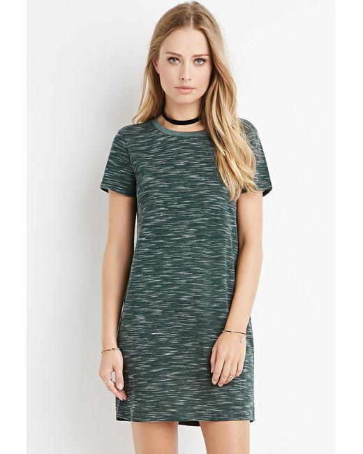 Forever 21 | Green Space Dye T-shirt Dress | Lyst