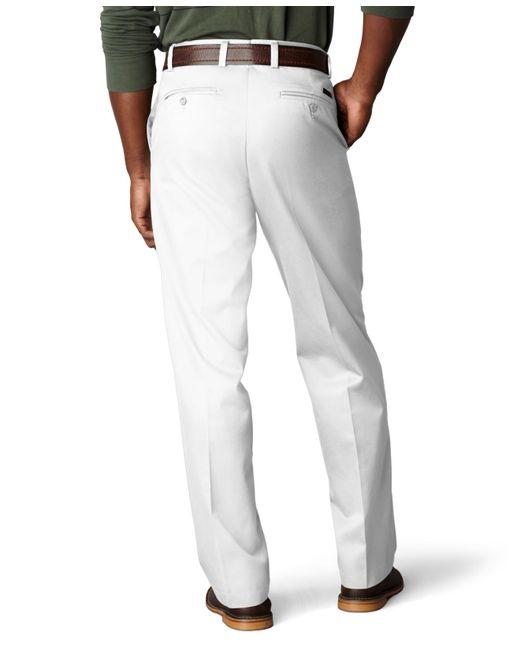Dockers Signature Khaki Classic Fit Flat Front Pants In