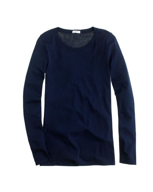 J.Crew | Blue Tissue Long-sleeve T-shirt | Lyst