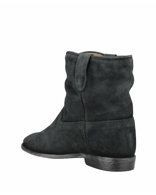 isabel marant crisi suede ankle boots in black lyst. Black Bedroom Furniture Sets. Home Design Ideas