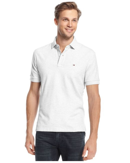 Tommy Hilfiger | White Men's Big And Tall Solid Ivy Polo for Men | Lyst
