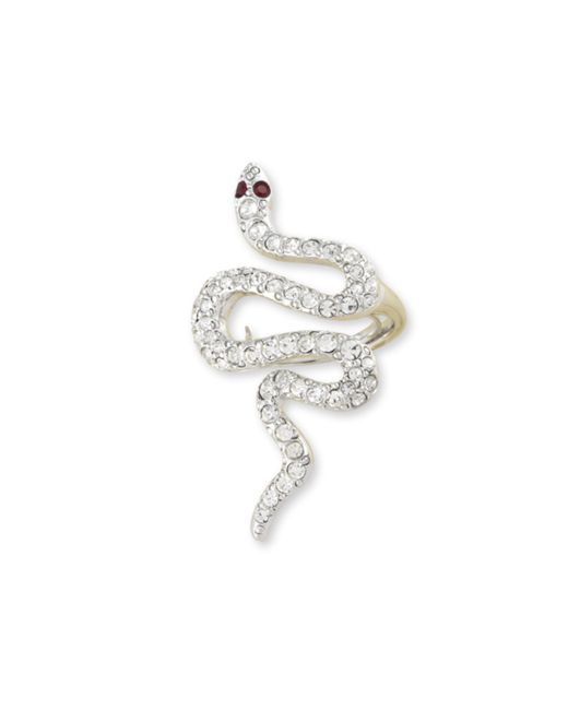 Kenneth Jay Lane | Multicolor Crystal Snake Ring | Lyst