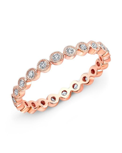 Anne Sisteron | Pink 14kt Rose Gold Bezel Set Diamond Ring | Lyst