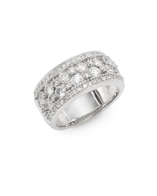 Effy | Metallic 1.55 Tcw Diamond & 14k White Gold Ring | Lyst