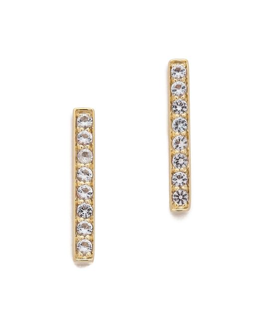 Elizabeth and James | Metallic Braque Bar Stud Earrings | Lyst