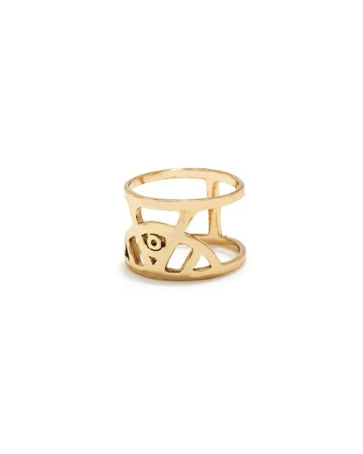 Bing Bang | Metallic Illuminated Eye Ring | Lyst