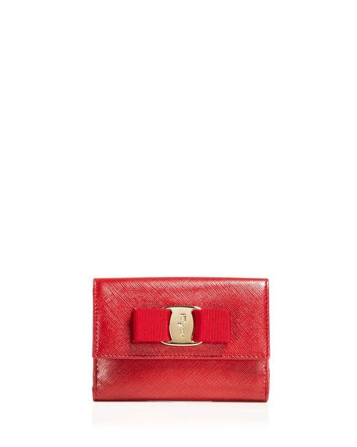 Ferragamo   Red Wallet - New Vara Small   Lyst