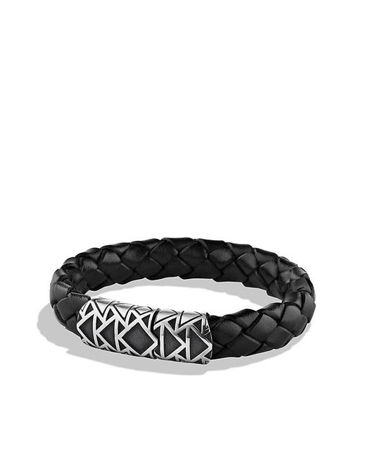 David Yurman | Frontier Bracelet In Black Leather for Men | Lyst