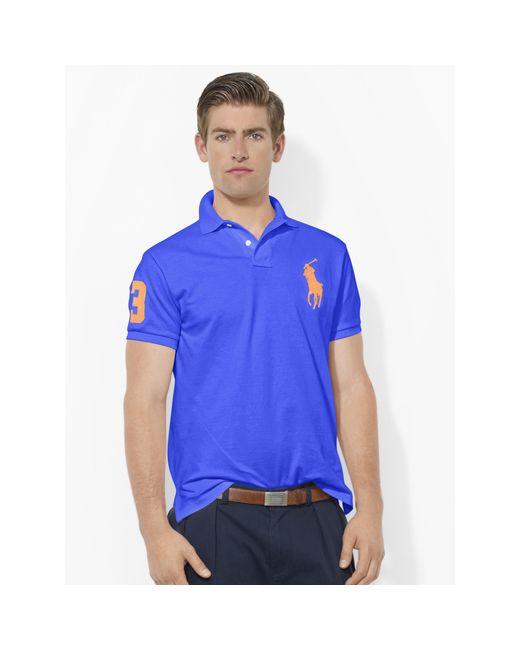 Polo Ralph Lauren | Blue Custom-fit Big Pony Polo for Men | Lyst