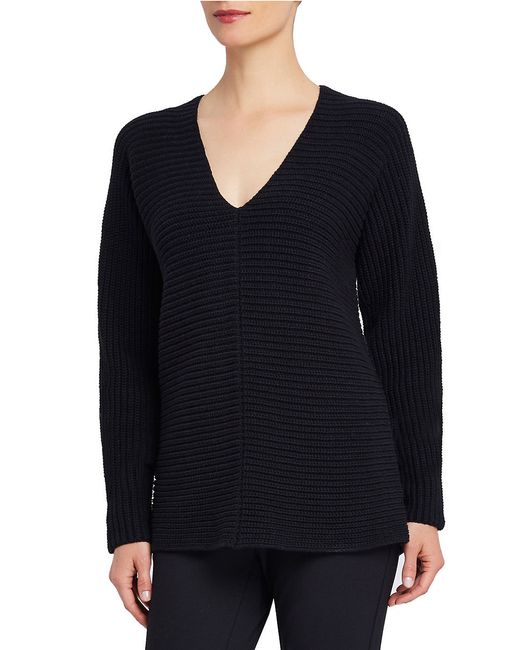 Ellen Tracy | Black V-neck Tunic Top | Lyst