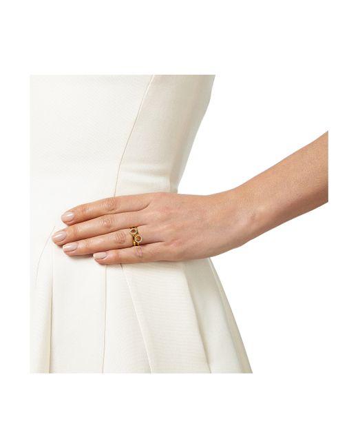 Monica Vinader | Metallic Naida Mini Circle Open Ring | Lyst