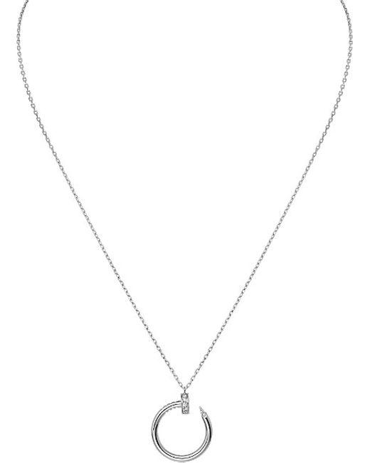 Cartier   Metallic Juste Un Clou 18ct White-gold And Diamond Necklace   Lyst