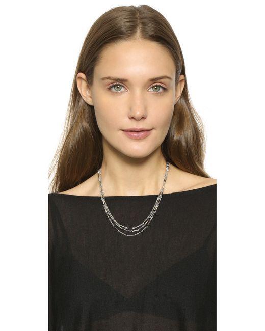 Eddie Borgo   Metallic Peaked Chain Necklace   Lyst
