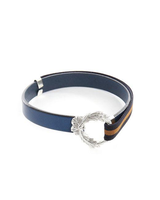 Gilbert Gilbert | Hen 11 Blue Leather Adjustable Bracelet for Men | Lyst
