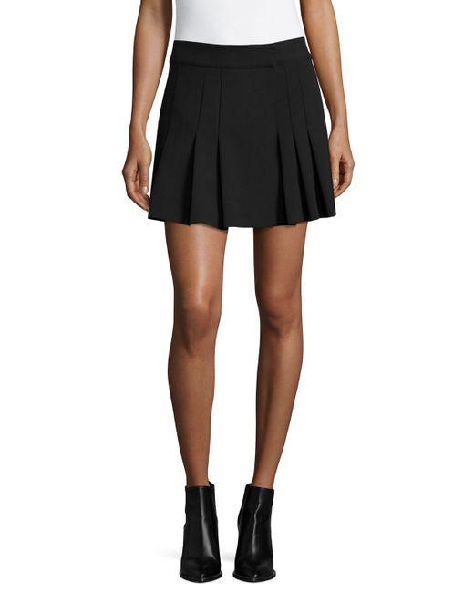 shoshanna pleated mini skirt in black jet save 66 lyst