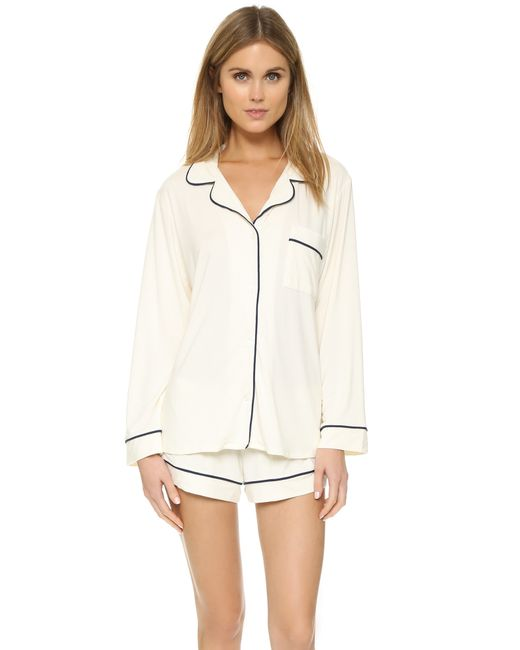 Eberjey | White Gisele Long Sleeve Pajama Set | Lyst