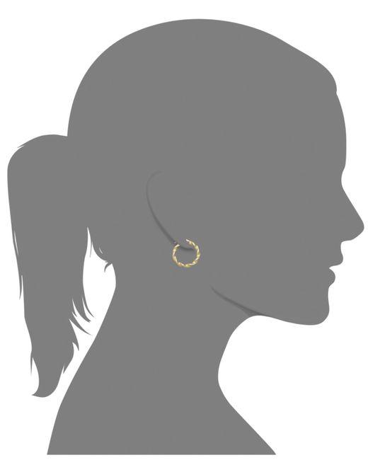 Macy's | Metallic 14k Gold Earrings, Small Twisted Hoop Earrings | Lyst
