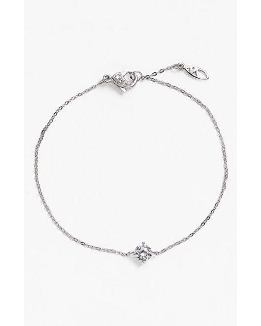 Nadri | Metallic Crystal Line Bracelet | Lyst