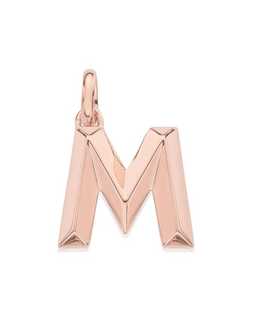 Monica Vinader   Pink Alphabet Pendant M   Lyst