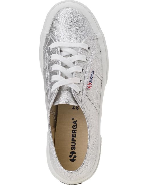 superga 2750 sneaker silver canvas in silver save 37 lyst