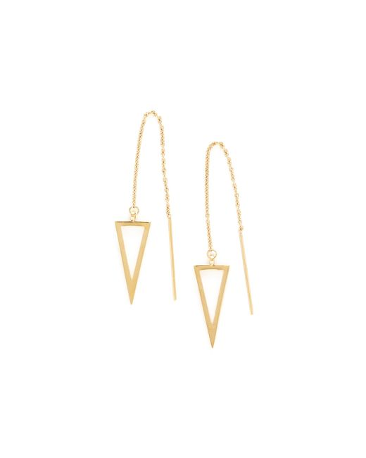 Rebecca Minkoff | Metallic Triangle Threader Earrings | Lyst