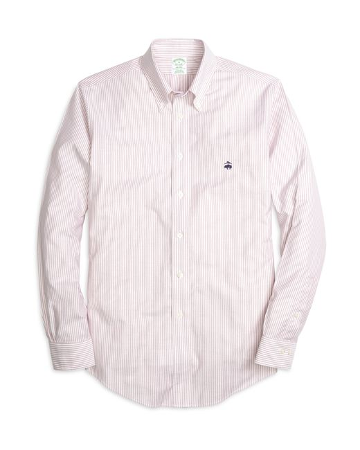 Brooks Brothers | Pink Non-iron Milano Classic Stripe Sport Shirt for Men | Lyst