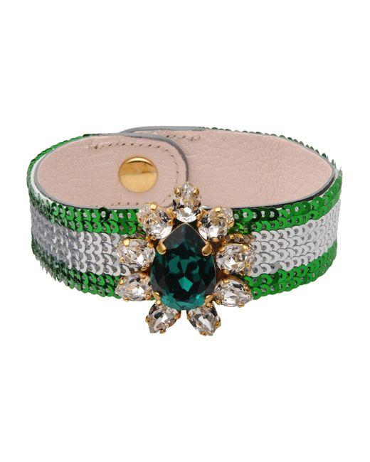 Shourouk | Green Bracelet | Lyst