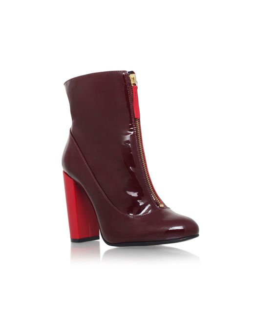 Carvela Kurt Geiger | Red Stephan Zip Up Ankle Boots | Lyst