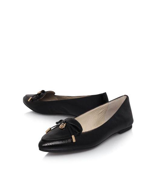 Michael Kors | Black Nancy Flat Slip On Pumps | Lyst