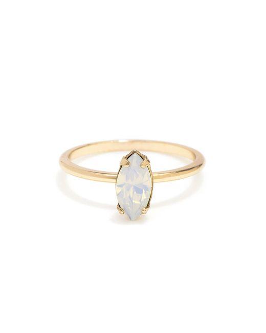 Bing Bang | Metallic Tiny Marquis Ring | Lyst