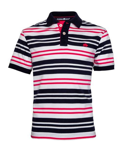 Raging Bull | Pink Varied Stripe Regular Fit Polo Shirt for Men | Lyst