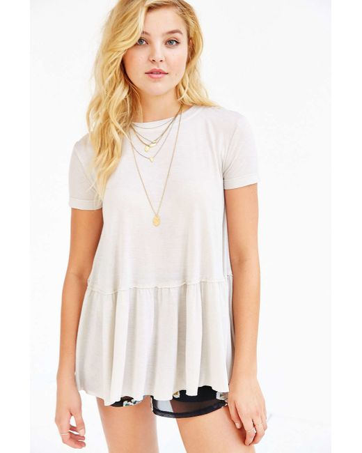 Truly Madly Deeply | White Dusty Road Peplum Tee Dress | Lyst